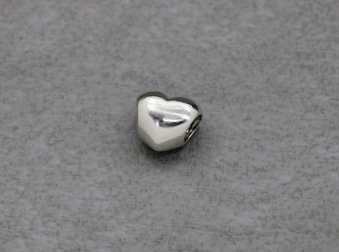 Sterling silver Pandora plain heart charm
