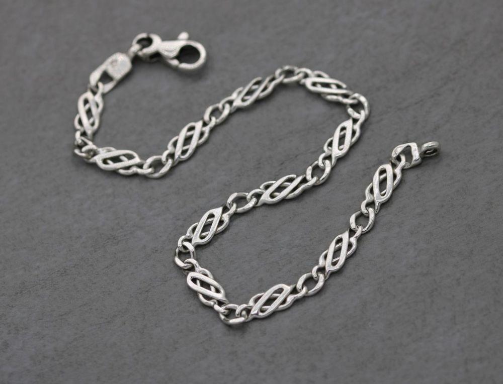 Sterling silver celtic panel bracelet