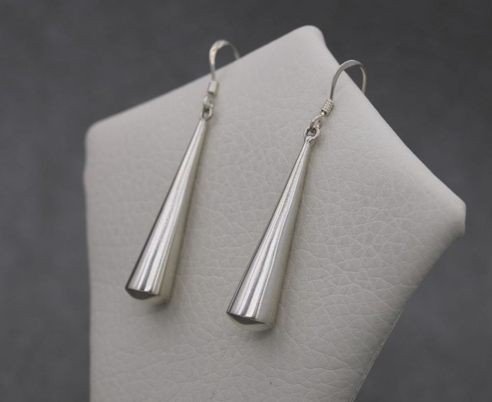 Long sterling silver dropper earrings