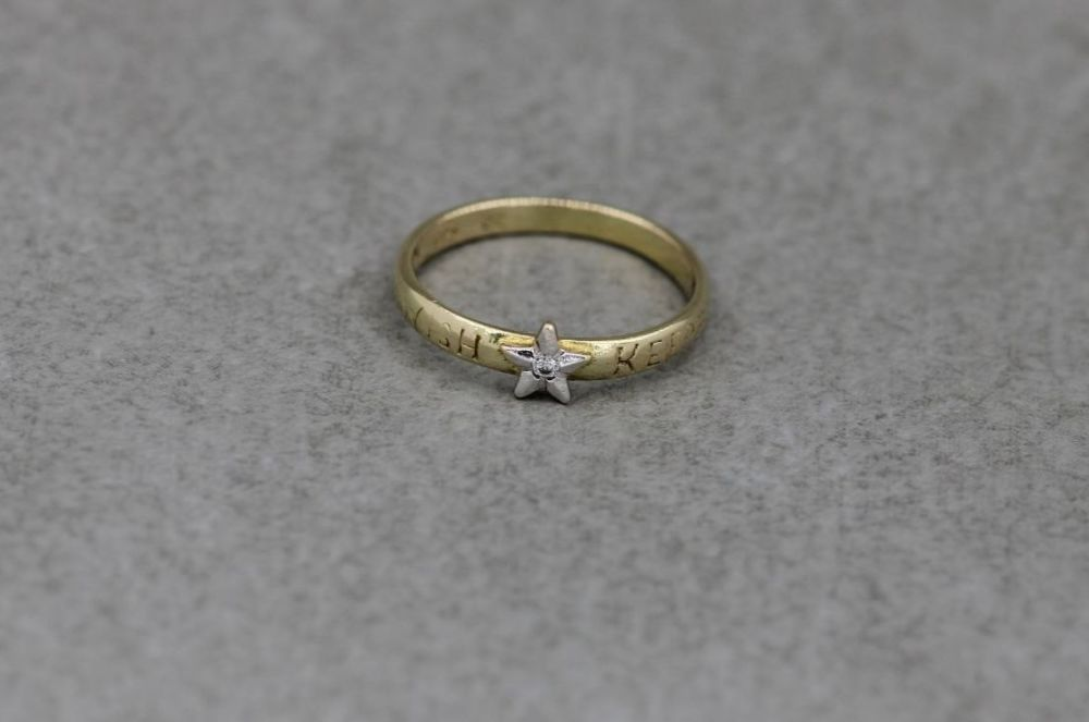 Child's gold plated sterling silver 'wish keeper' ring