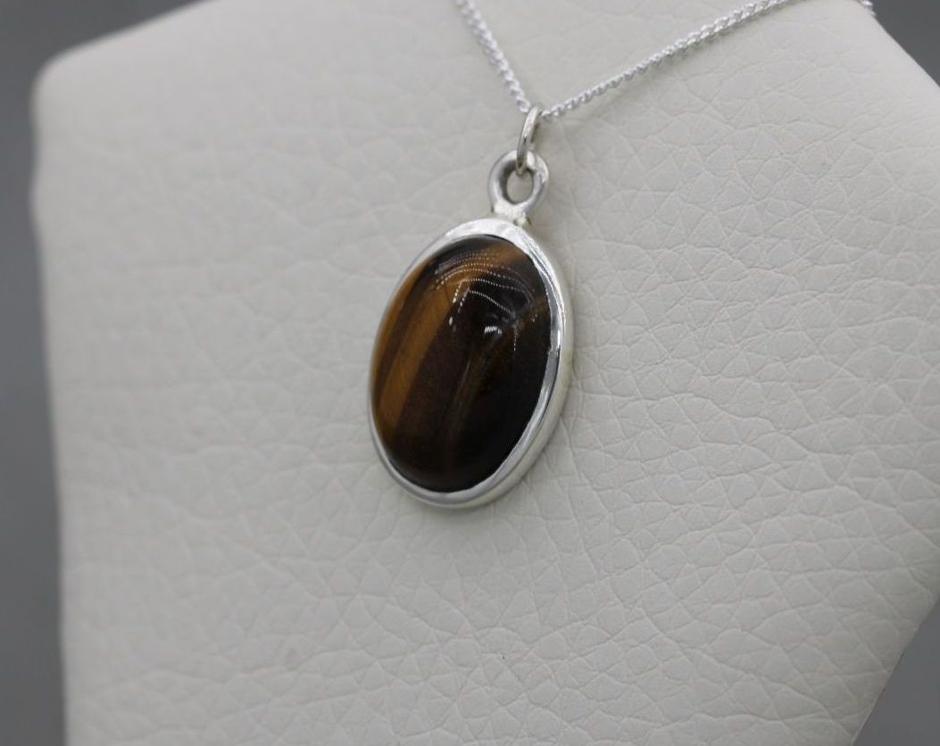 Sterling silver & tiger's eye necklace