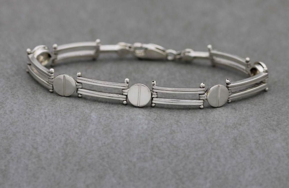 Unusual sterling silver bracelet