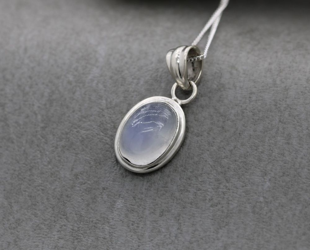 Sterling silver & moonstone necklace