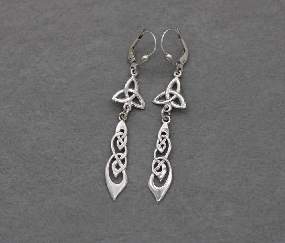 Sterling silver Celtic dropper earrings