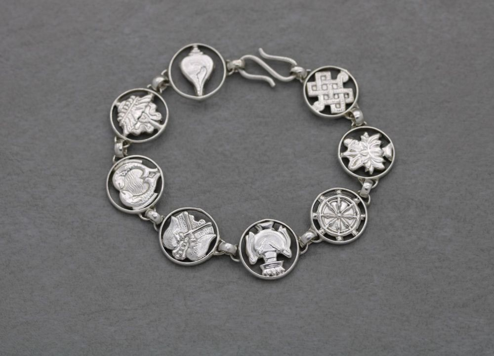 Nautical themed sterling silver bracelet