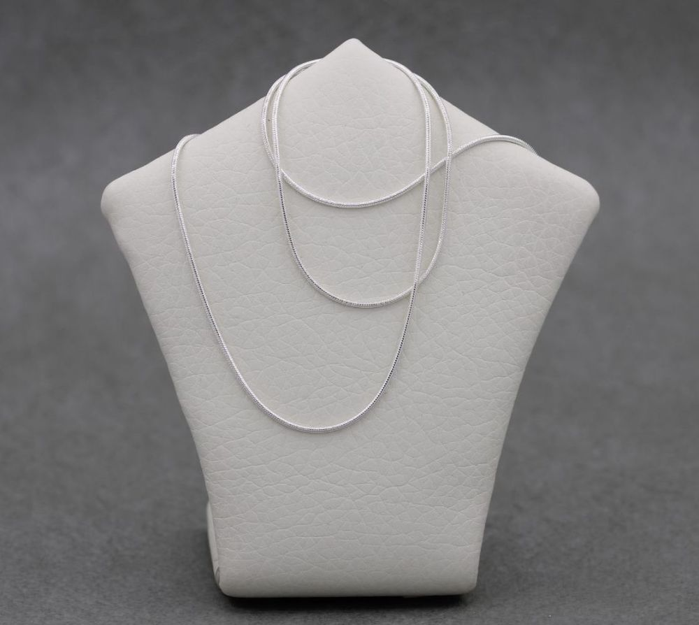 """NEW Sterling silver snake chain (20"""", 1mm)"""