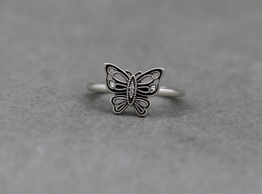 Sterling silver Pandora butterfly ring