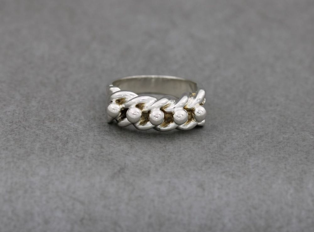 Heavy sterling silver keeper ring
