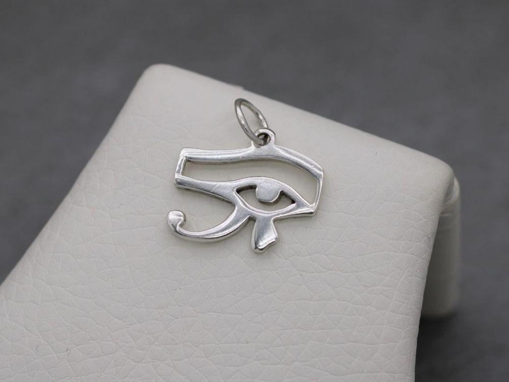 Small sterling silver Egyptian Eye of Horus pendant