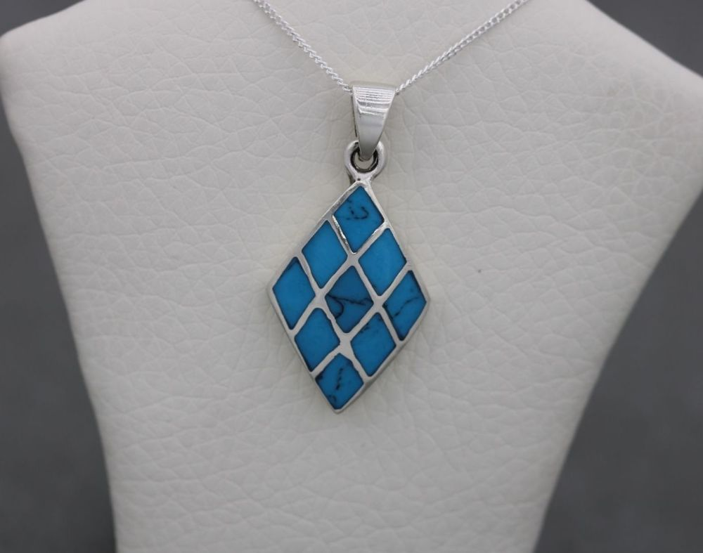 Sterling silver & blue howlite necklace
