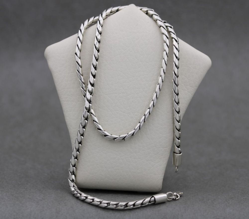 """Heavy solid sterling silver chain (18"""", 3.5mm)"""
