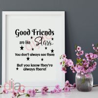 GOOD FRIENDS ARE LIKE STARS<br>15 x 15 cm