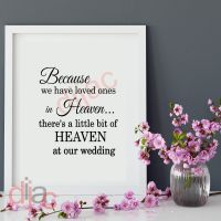 HEAVEN AT OUR WEDDING<br>15 x 15 cm