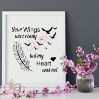 YOUR WINGS WERE READY (D1)<br>15 x 15 cm