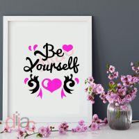 BE YOURSELF<br>15 x 15 cm