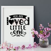 YOU ARE LOVED LITTLE ONE<br>15 x 15 cm