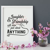 LAUGHTER AND FRIENDSHIP...<br>15 x 15 cm