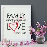 FAMILY. WHERE LIFE BEGINS (D3)...<br>15 x 15 cm
