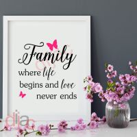 FAMILY. WHERE LIFE BEGINS (D2)... <br>15 x 15 cm
