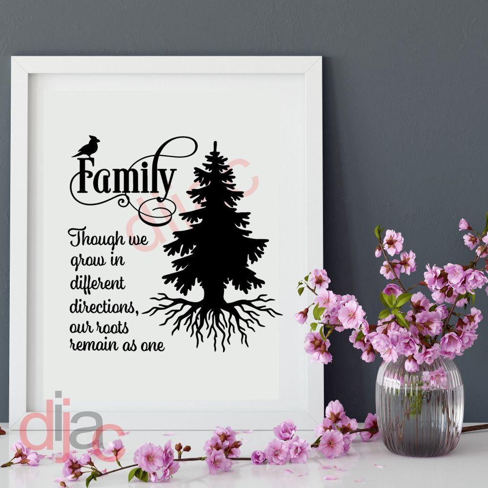 FAMILY. WHERE LIFE BEGINS (D1)... VINYL DECAL