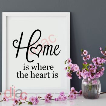 HOME IS WHERE THE HEART IS15 x 15 cm