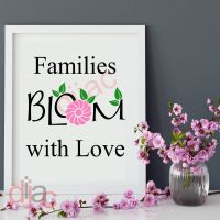 FAMILIES BLOOM WITH LOVE<br>15 x 15 cm