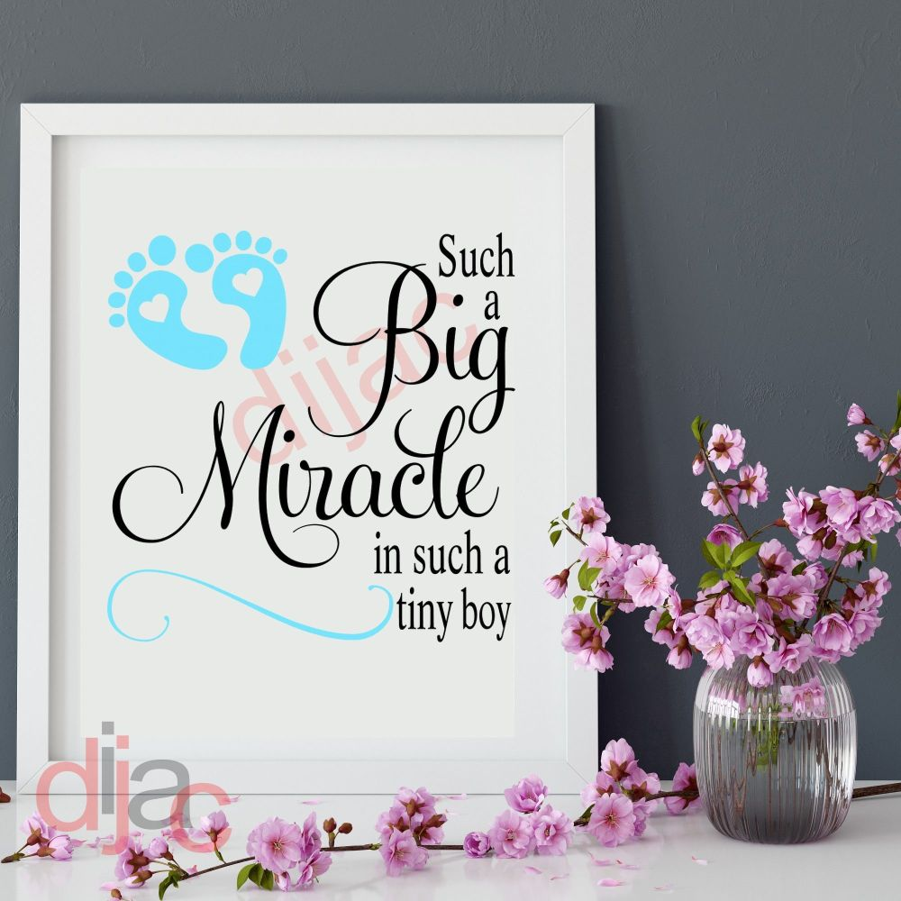 SUCH A BIG MIRACLE (GIRL D2) LARGE DECAL
