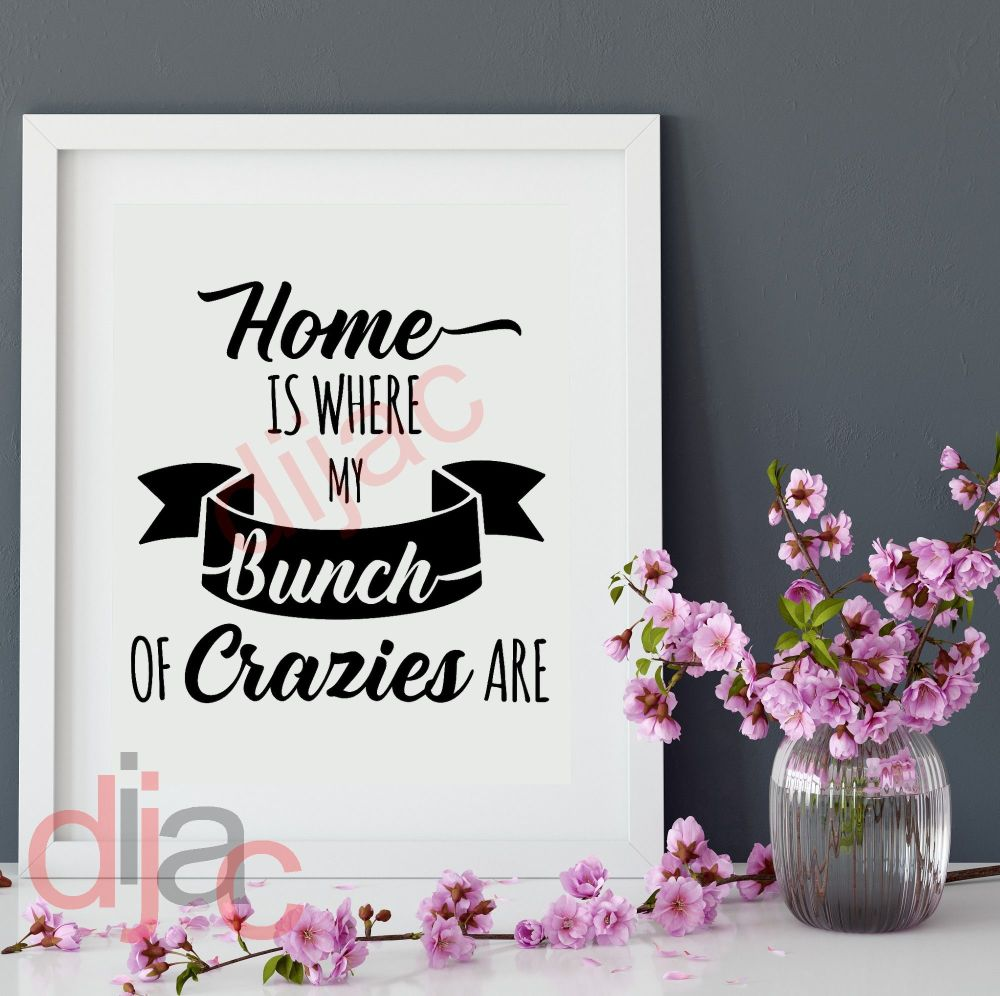 HOME. MY BUNCH OF CRAZIES 15 x 15 cm