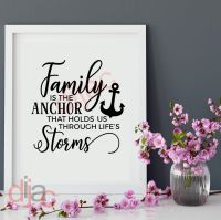FAMILY IS THE ANCHOR... <br>15 x 15 cm