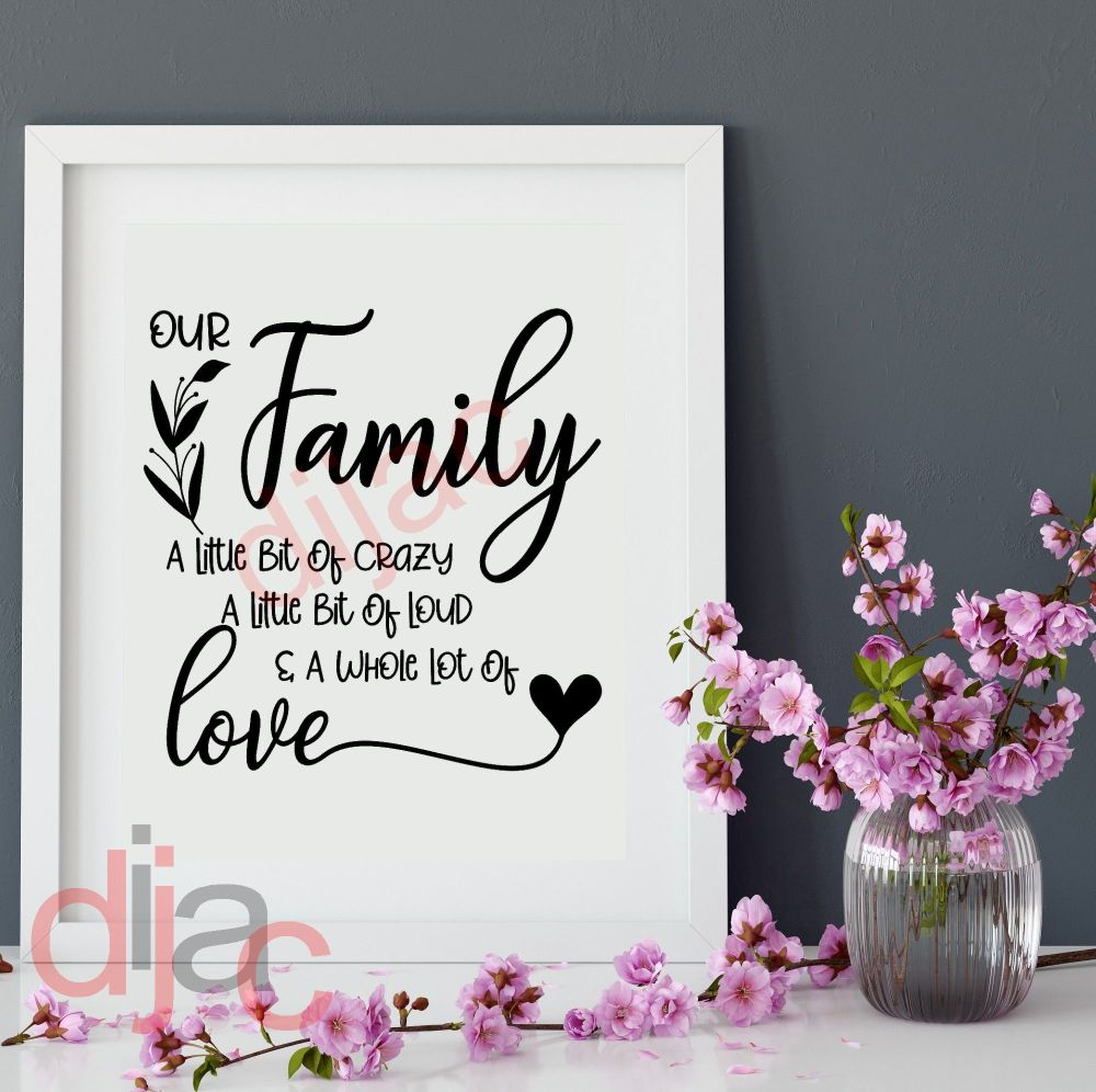 FAMILY IS THE ANCHOR... VINYL DECAL