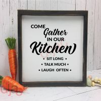 COME GATHER IN OUR KITCHEN<br>15 x 15 cm