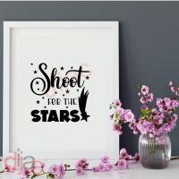 SHOOT FOR THE STARS<br>15 x 15 cm