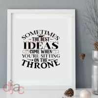 SOMETIMES THE BEST IDEAS...<br>15 x 15 cm