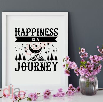 HAPPINESS IS A JOURNEY15 x 15 cm