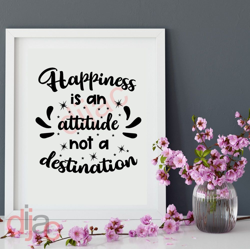 HAPPINESS IS A JOURNEY VINYL DECAL