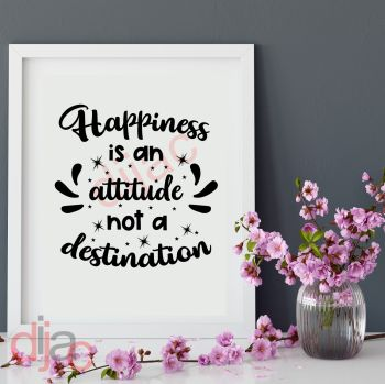 HAPPINESS IS AN ATTITUDE...15 x 15 cm
