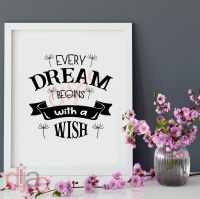 EVERY DREAM BEGINS WITH A WISH<br>15 x 15 cm