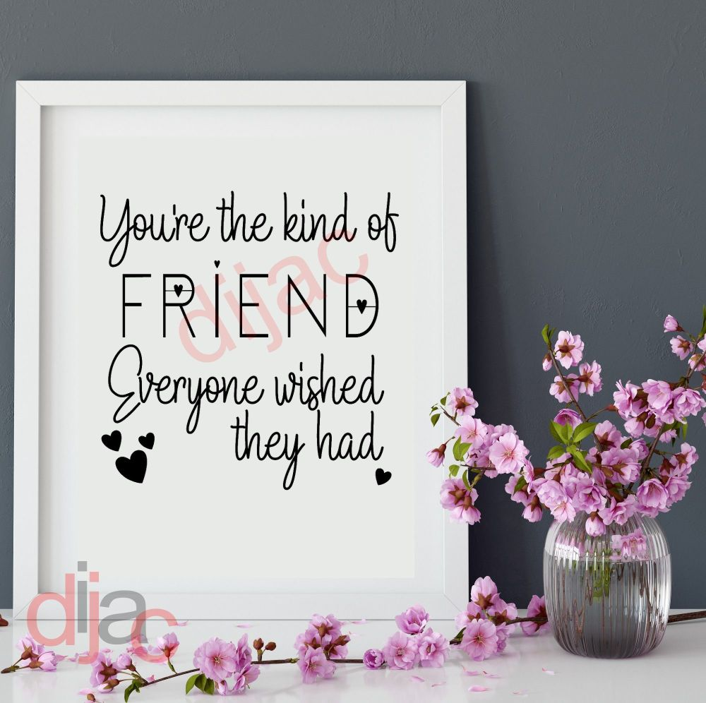 GOOD FRIENDS ARE LIKE STARS  VINYL DECAL