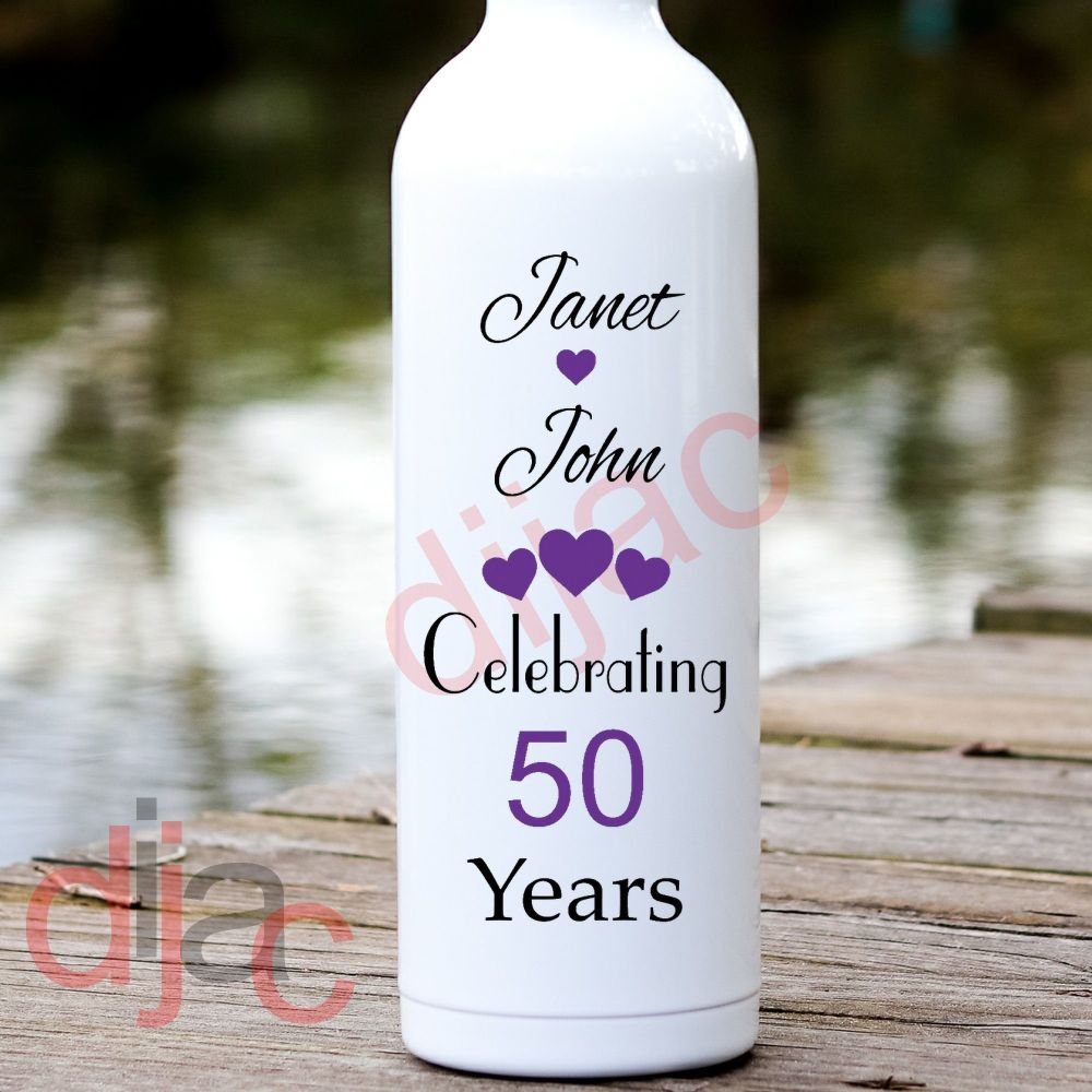 WEDDING ANNIVERSARY VINYL DECAL