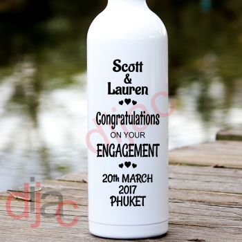 CONGRATULATIONS ENGAGEMENTPERSONALISED8 x 17.5 cm