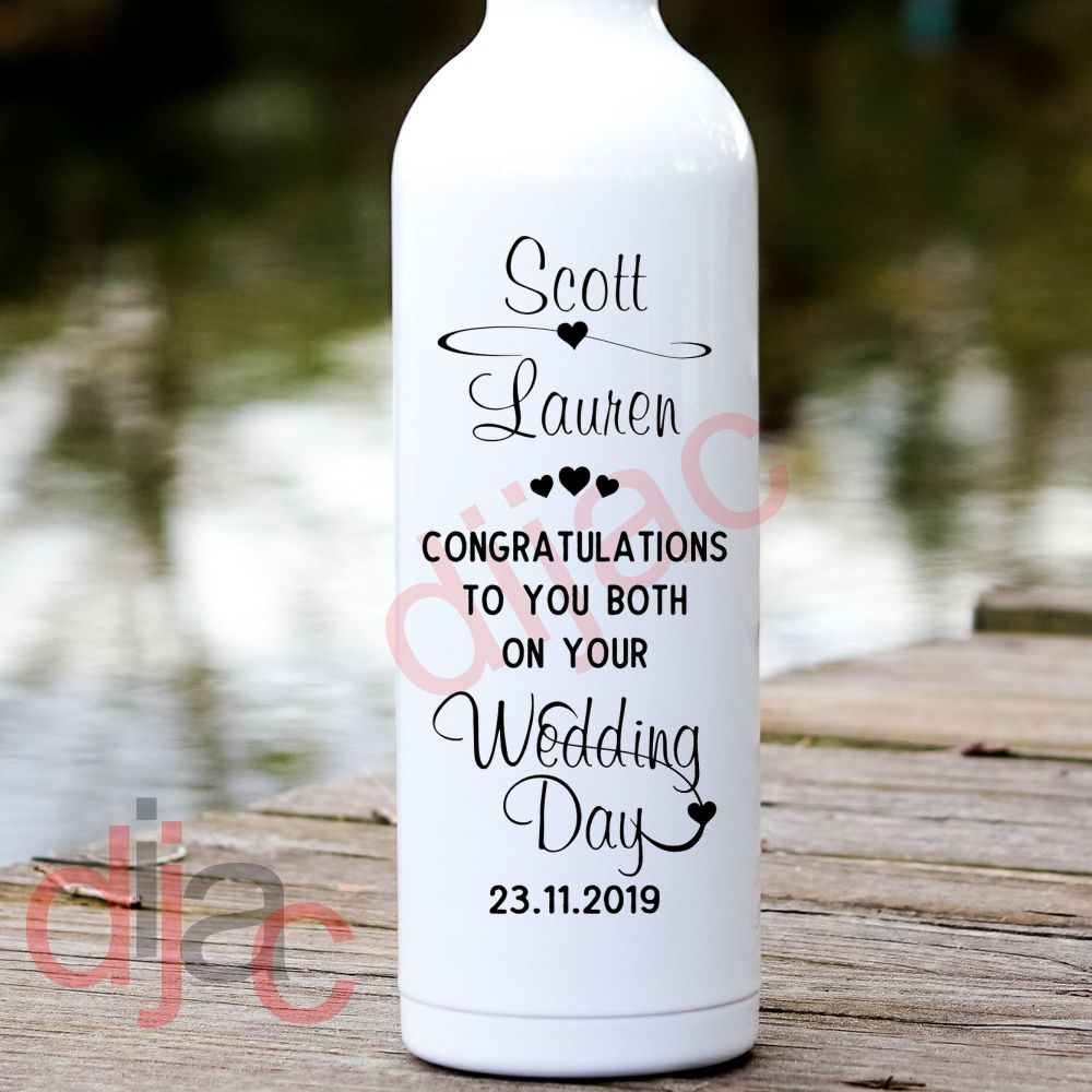 CONGRATULATIONS ON YOUR WEDDING DAY VINYL DECAL
