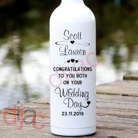 CONGRATULATIONS WEDDING DAY<br>PERSONALISED<br>8 x 17.5 cm
