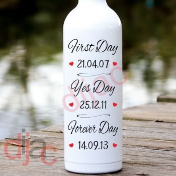 FIRST DAY YES DAY (D2)PERSONALISED8 x 17.5 cm