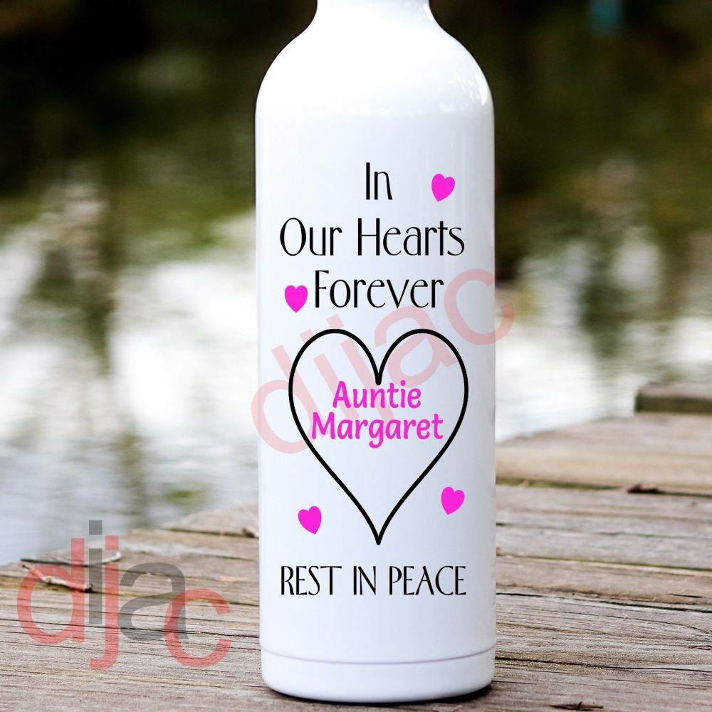 IN OUR HEARTS REST IN PEACEPERSONALISED8 x 17.5 cm