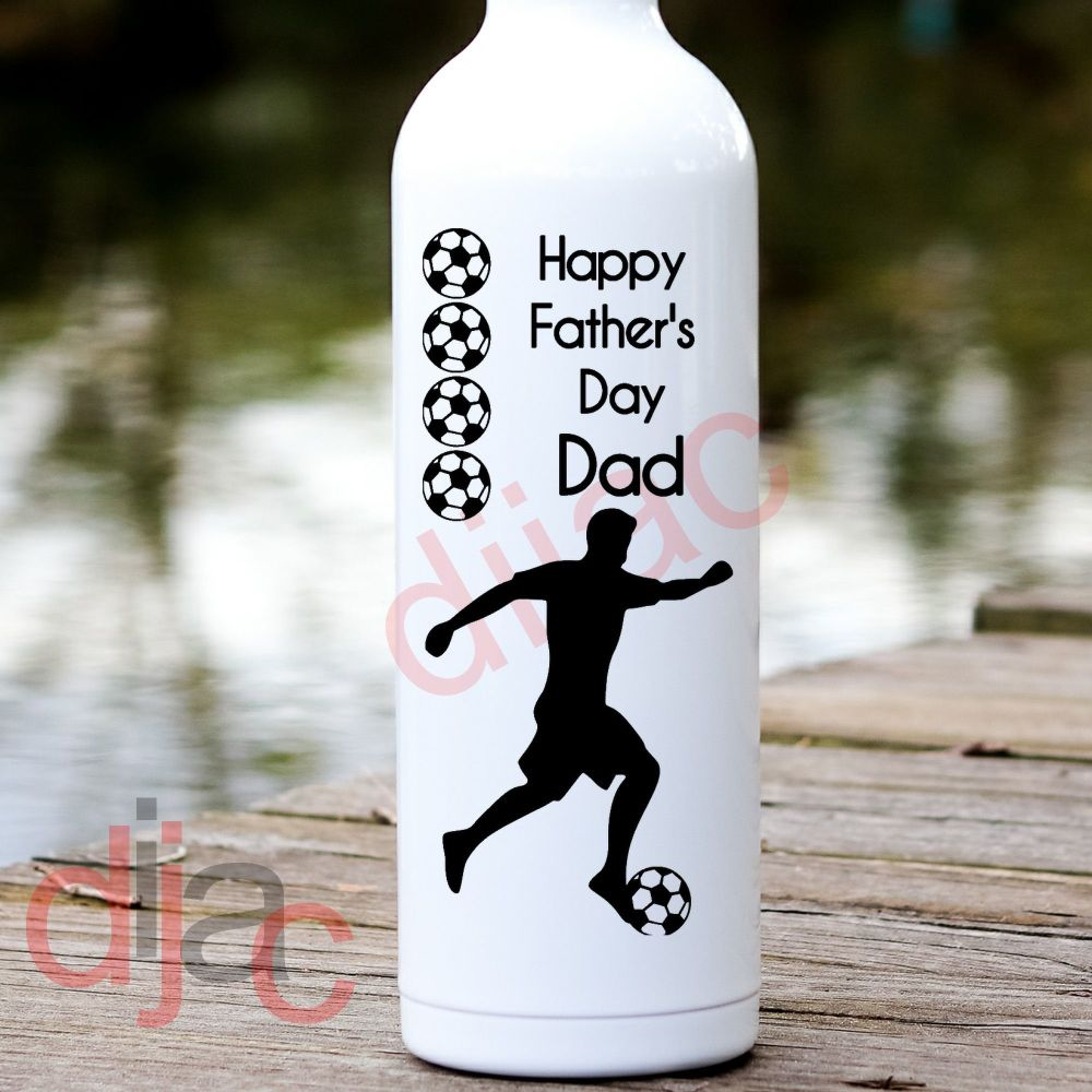 HAPPY FATHER'S DAY FOOTBALL VINYL DECAL