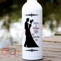 WEDDING DAY<br>PERSONALISED<br>8 x 17.5 cm