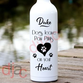 DOGS LEAVE PAW PRINTS VINYL DECAL