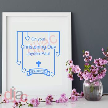 ON YOUR CHRISTENING DAYPERSONALISED15 x 15 cm
