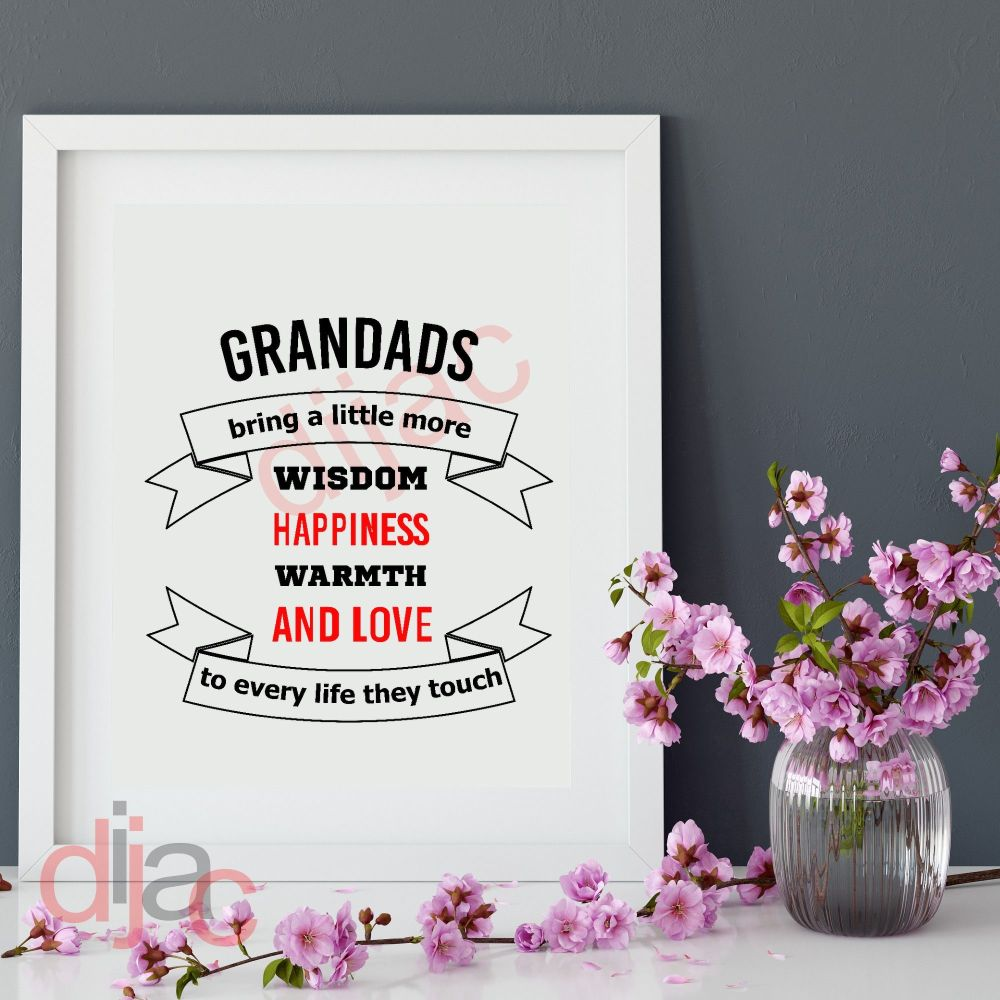 GRANDADS BRING A LITTLE MOREPERSONALISED15 x 15 cm