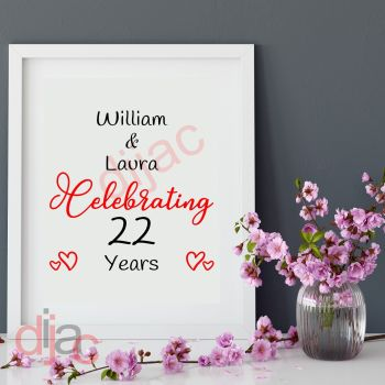 WEDDING ANNIVERSARYPERSONALISED15 x 15 cm